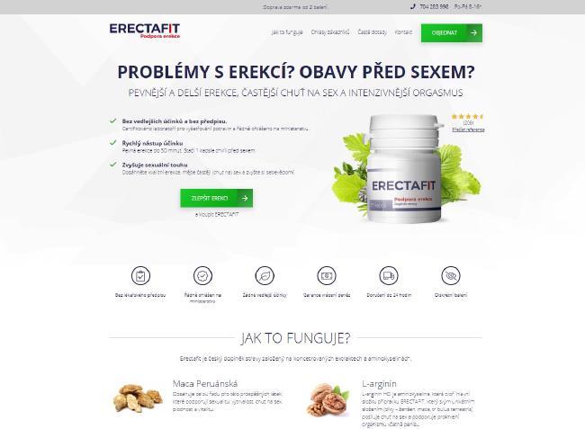 Stránky erectafit.cz jsou velmi přehledné a objednávkový proce jednoduchý